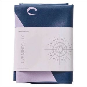 Anthropologie Rubber Travel Yoga Mat Navy Purple
